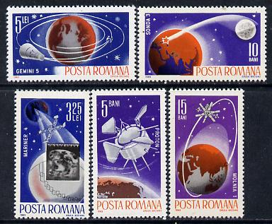 Rumania 1965 Space Probes set of 5 unmounted mint, Mi 2465-69