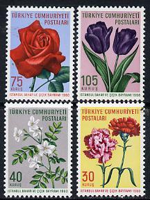 Turkey 1960 Spring Flower Festival set of 4 SG 1903-06*