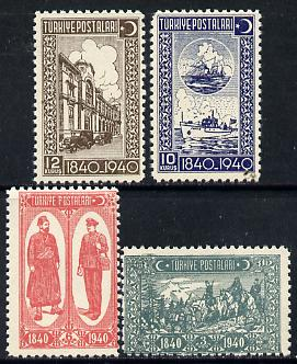 Turkey 1940 Stamp Centenary unmounted mint set of 4, SG 1270-73*