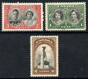 Canada 1939 Royal Visit set of 3 unmounted mint, SG 372-74*