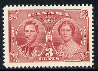 Canada 1937 KG6 Coronation unmounted mint SG 356*