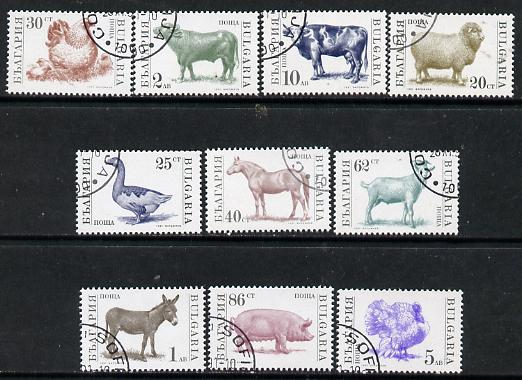 Bulgaria 1991 Farm Animals set of 11 cto used, (Mi 3881-85, 3923-27 & 3984) SG 3728-38*