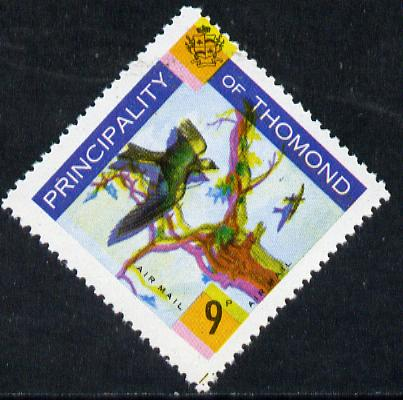 Thomond 1960 Martin 9d (Diamond-shaped) showing yellow misplaced by 2mm giving double impression unmounted mint*