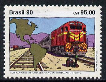 Brazil 1990 Railway Congress unmounted mint, SG 2443*