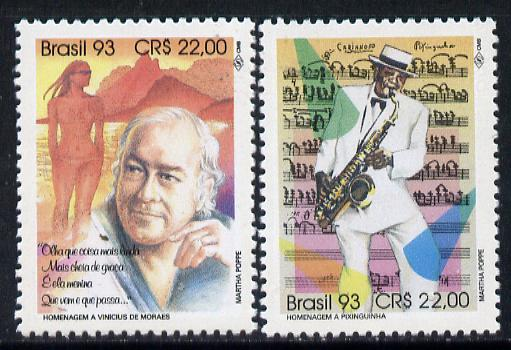 Brazil 1993 Composers set of 2, SG 2601-02 unmounted mint*