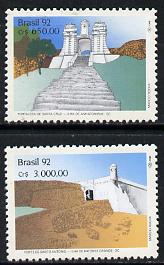 Brazil 1992 Fortresses set of 2, SG 2553-54 unmounted mint*