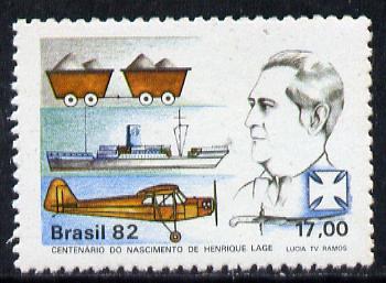 Brazil 1982 Henrique Lage (Industrialist) unmounted mint SG 1942*