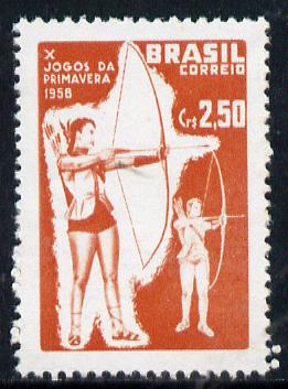 Brazil 1958 Spring Games (Archery) unmounted mint SG 993*