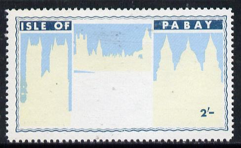Pabay 1968 Churchill 2s with black (Churchill & main design) omitted (slight set-off on gummed side)