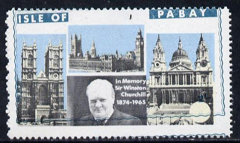 Pabay 1968 Churchill 2s with green (frame, name & value) misplaced (slight set-off on gummed side)