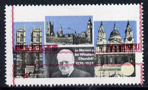 Pabay 1968 Churchill 5s with red (frame, name & value) inverted (unmounted mint with slight set-off on gummed side)