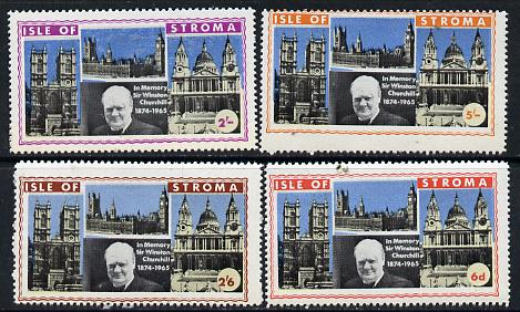 Stroma 1968 Churchill perf set of 4 unmounted mint
