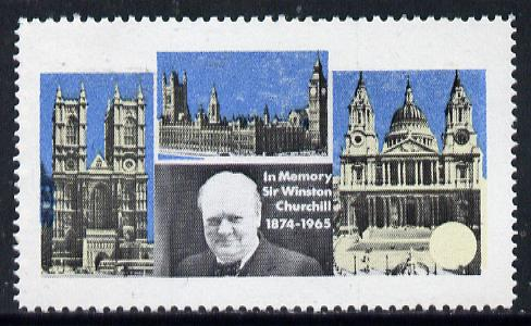 Pabay or Stroma 1968 Churchill with identifying colour (frame, name & value) omitted (slight set-off on gummed side)