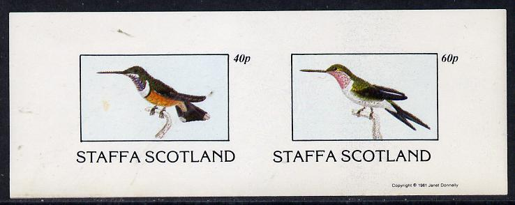 Staffa 1981 Humming Birds #01 imperf  set of 2 values (40p & 60p) unmounted mint