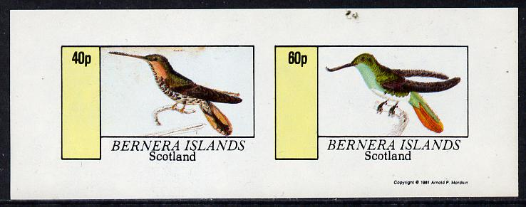 Bernera 1981 Humming Birds imperf  set of 2 values (40p & 60p) unmounted mint