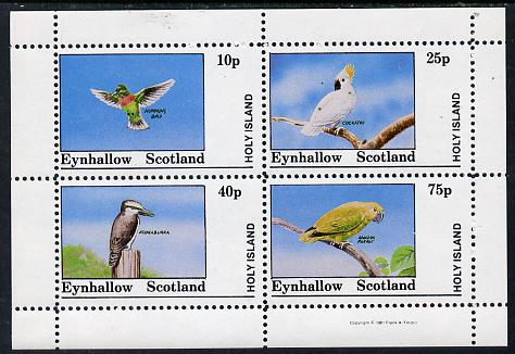 Eynhallow 1981 Birds #03 (Humming Bird, Cockatoo, Kookaburra & Parrot) perf  set of 4 values (10p to 75p) unmounted mint