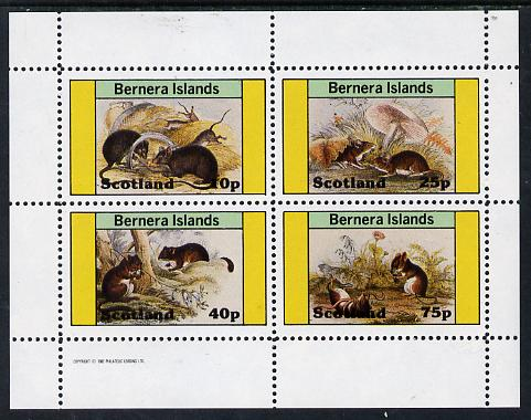 Bernera 1982 Rodents #2 perf  set of 4 values (10p to 75p) unmounted mint