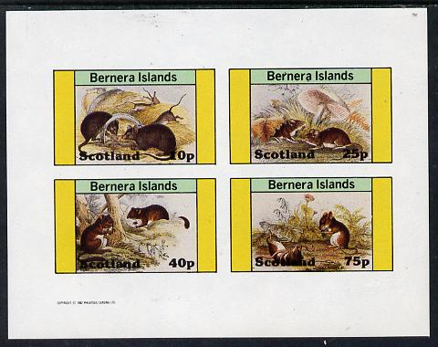 Bernera 1982 Rodents #2 imperf  set of 4 values (10p to 75p) unmounted mint