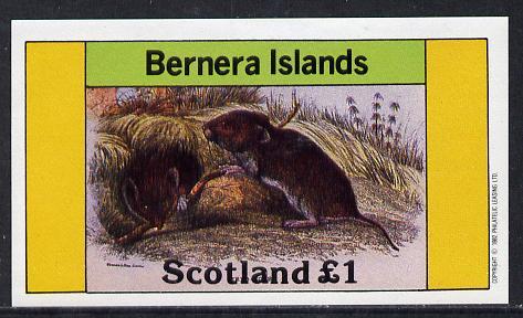 Bernera 1982 Rodents #2 imperf souvenir sheet (�1 value) unmounted mint