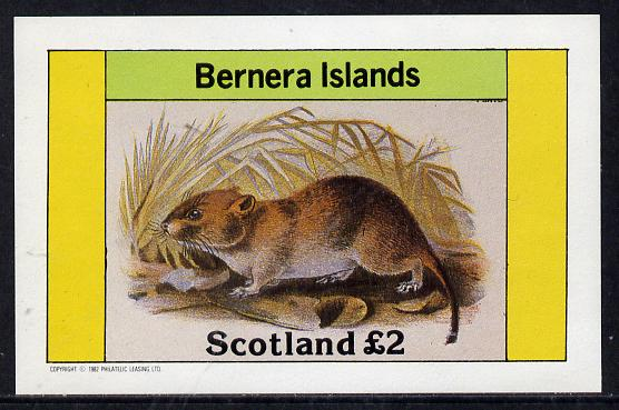 Bernera 1982 Rodents #2 imperf deluxe sheet (�2 value) unmounted mint