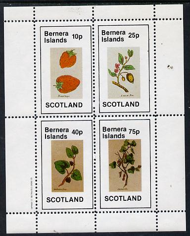 Bernera 1982 Fruit (Hautboys, Lemon Tree, Mulberry Tree & Currants) perf  set of 4 values (10p to 75p) unmounted mint