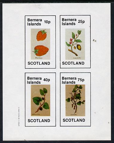 Bernera 1982 Fruit (Hautboys, Lemon Tree, Mulberry Tree & Currants) imperf  set of 4 values (10p to 75p) unmounted mint