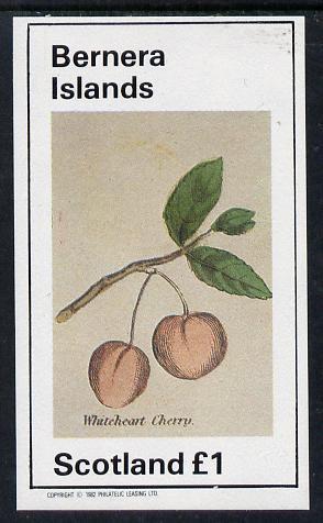 Bernera 1982 Fruit (Whiteheart Cherry) imperf souvenir sheet (�1 value) unmounted mint