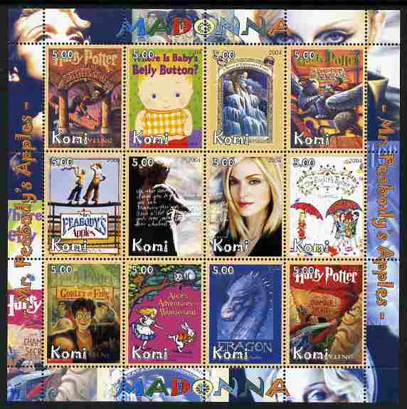 Komi Republic 2004 Madonna perf sheetlet containing set of 12 values unmounted mint