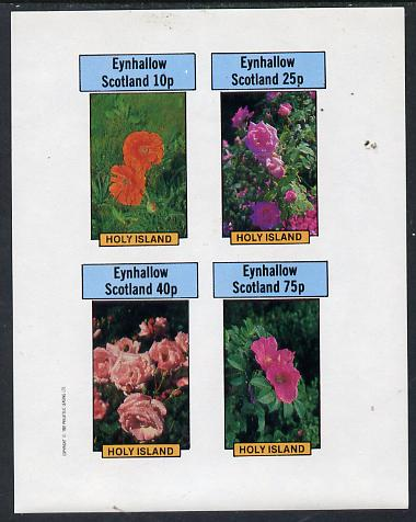 Eynhallow 1982 Roses imperf  set of 4 values (10p to 75p) unmounted mint