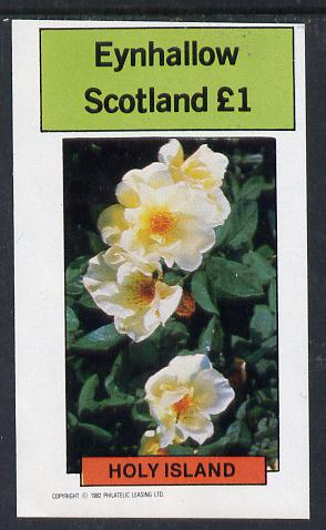 Eynhallow 1982 Roses imperf souvenir sheet (�1 value) unmounted mint