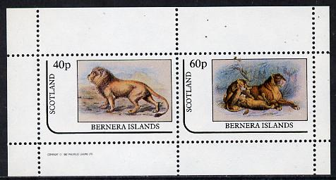 Bernera 1982 Animals (Lions) perf  set of 2 values (40p & 60p) unmounted mint
