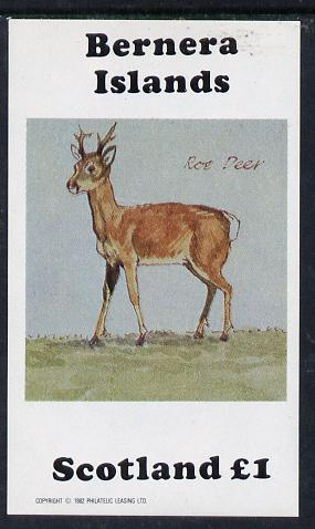 Bernera 1982 Roe Deer imperf souvenir sheet (�1 value) unmounted mint