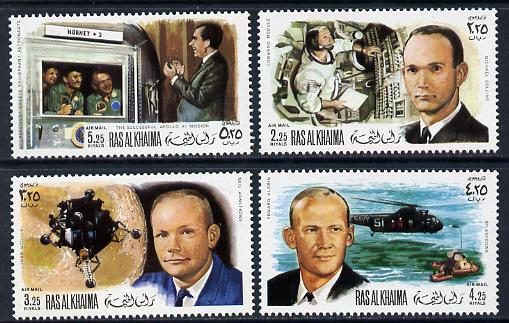 Ras Al Khaima 1969 Apollo 11 set of 4 unmounted mint, Mi 335-8A)