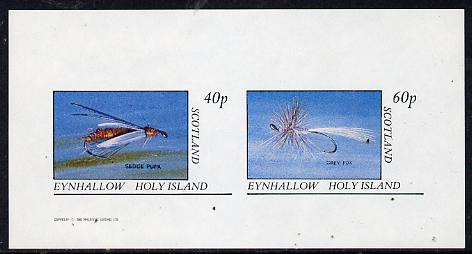Eynhallow 1982 Fishing Flies (Sedge pupa & Grey Fox) imperf  set of 2 values (40p & 60p) unmounted mint
