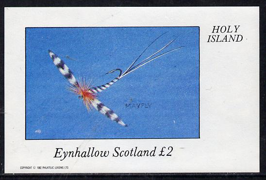 Eynhallow 1982 Fishing Flies (Mayfly) imperf deluxe sheet (�2 value) unmounted mint