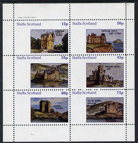 Staffa 1982 Castles #1 perf set of 6 values (15p to 75p) unmounted mint