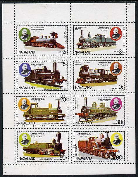 Nagaland 1979 Rowland Hill (Locomotives) perf  set of 8 values (2c to 80c) unmounted mint