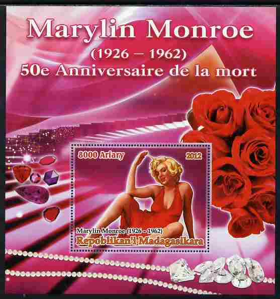 Madagascar 2012 50th Death Anniversary of Marilyn Monroe large perf s/sheet unmounted mint