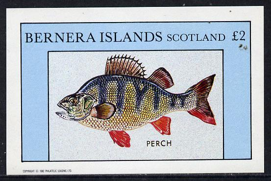 Bernera 1982 Fish (Perch) imperf deluxe sheet (�2 value) unmounted mint