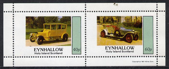 Eynhallow 1981 Vintage Cars #5 perf  set of 2 values (40p & 60p) unmounted mint