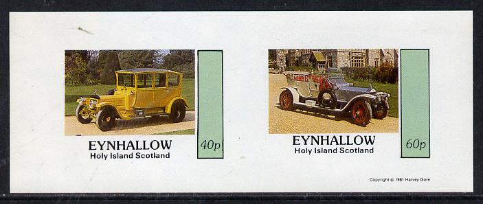 Eynhallow 1981 Vintage Cars #5 imperf  set of 2 values (40p & 60p) unmounted mint, stamps on cars