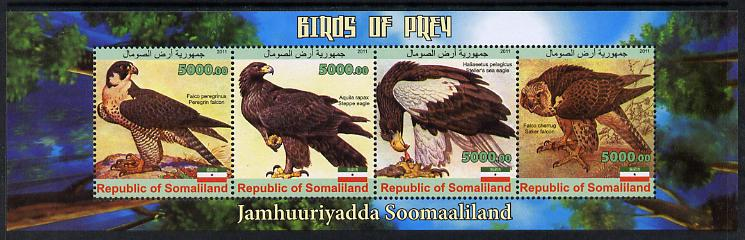 Somaliland 2011 Birds of Prey #2 perf sheetlet containing 4 values unmounted mint