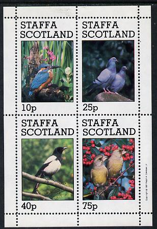 Staffa 1981 Birds #06 (Kingfisher, Pigeons, etc) perf  set of 4 values (10p to 75p) unmounted mint