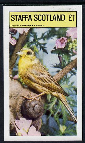 Staffa 1981 Birds #06 imperf souvenir sheet (�1 value) unmounted mint
