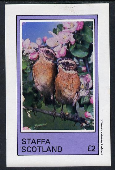 Staffa 1981 Birds #06 imperf deluxe sheet (�2 value) unmounted mint