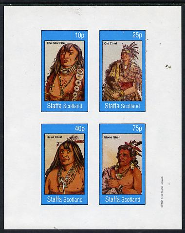 Staffa 1982 N American Indians #01 imperf set of 4 values unmounted mint