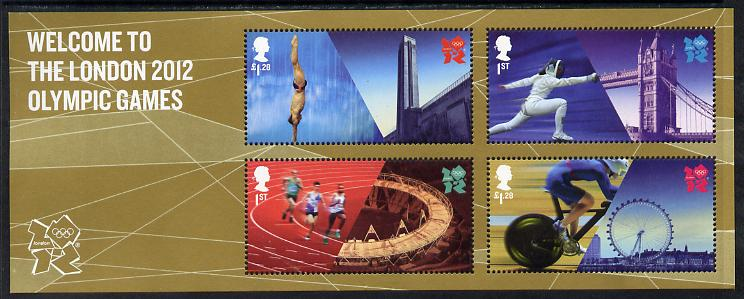 Great Britain 2012 Welcome to the London Olympic Games perf m/sheet unmounted mint
