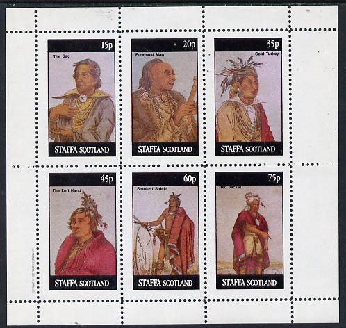 Staffa 1982 N American Indians #02 perf set of 6 values unmounted mint