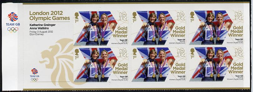 Great Britain 2012 London Olympic Games Team Great Britain Gold Medal Winner #06 - Katherine Grainger & Anna Watkins (Rowing Women's Sculls) self adhesive sheetlet containing 6 x first class values unmounted mint