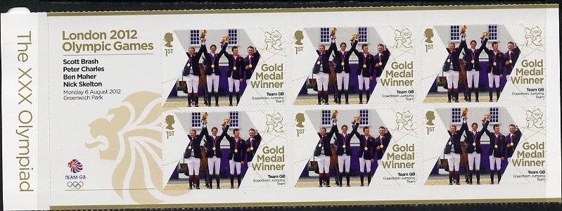 Great Britain 2012 London Olympic Games Team Great Britain Gold Medal Winner #17 - Scott Brash, Peter Charles, Ben Maher & Nick Skelton (Equestrian) self adhesive sheetlet containing 6 x first class values unmounted mint